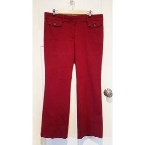 LOFT Red Marisa Trouser size 12